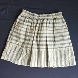 Madewell Chambray Cotton Skirt Size Small